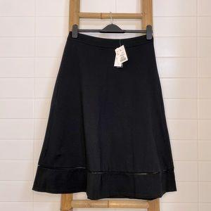 NWT Black A-Line skirt